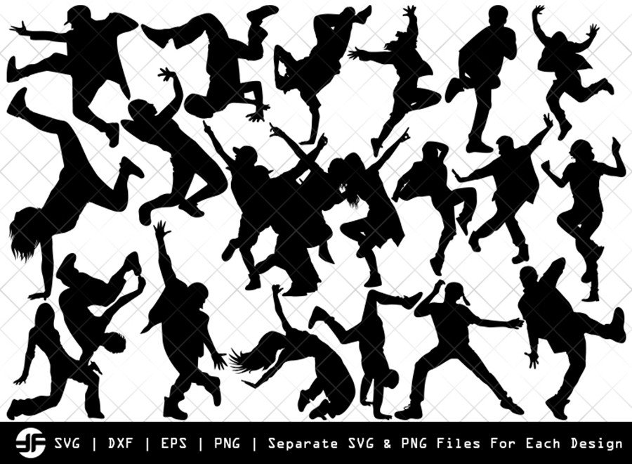 Hip Hop Svg Hip Hop Silhouette Bundle Svg Cut File Etc Craft