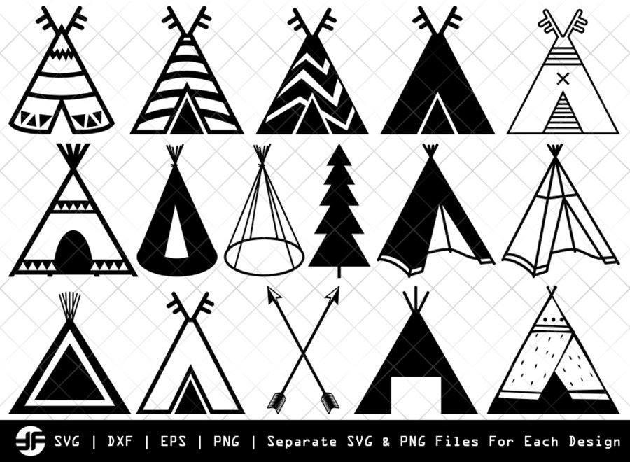47 Free Teepee Svg Png