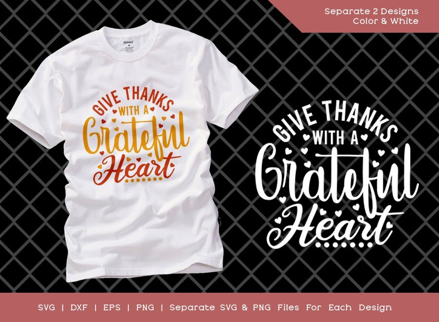 Give Thanks With A Grateful Heart Svg Cut File Etc Craft